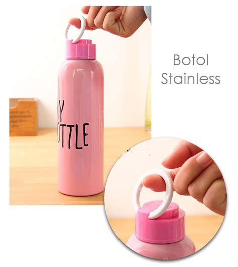 Botol Stainless 650 Ml Model Trendy Bahan Stainless Baru jual botol stainless 650 ml model trendy bahan stainless ceria smart