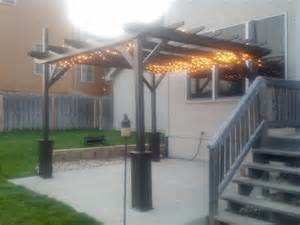 Diy Garden Pergola by Pergola With Lights Shelterness