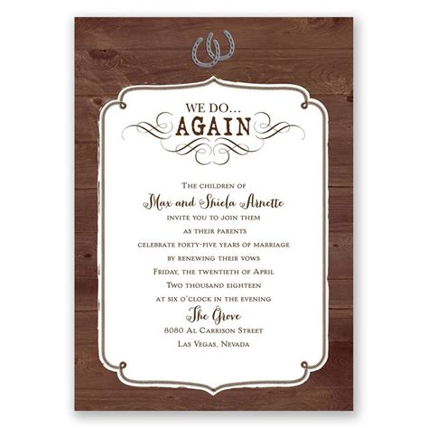 renewing wedding vows verses for cards western revival vow renewal invitation invitations by
