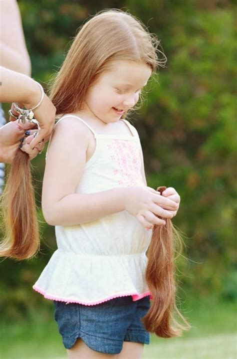 hair on 5 year olds but 5 year old inspired by dad to chop off her hair