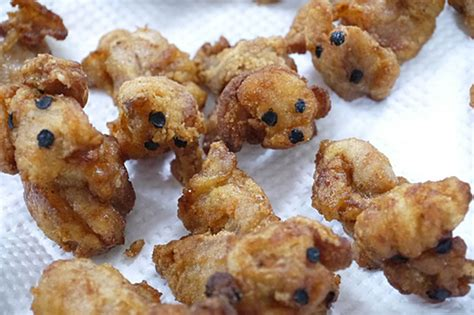 puppies that look like fried chicken fried chicken poodles are almost to eat