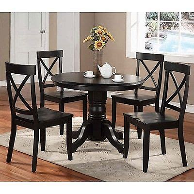 black kitchen table set home styles 5 pedestal dining set black table chairs
