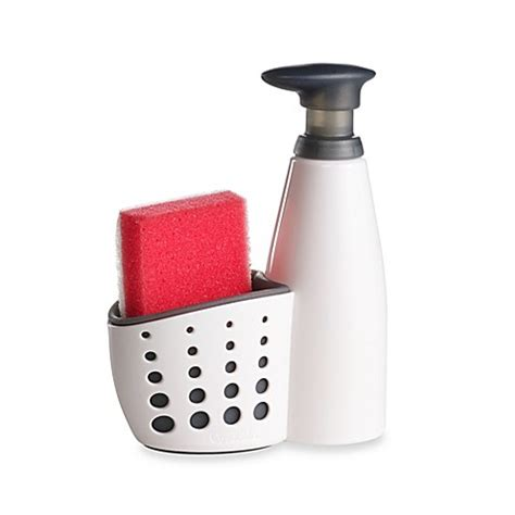 bed bath and beyond soap dispenser buy sink soap dispenser with sponge holder and sponge from