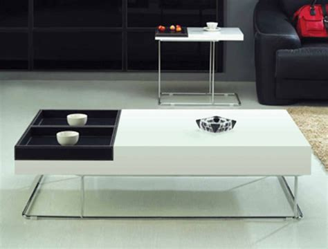 Lacquer Coffee Table With Leather Removable Tray Cr9500 Leather Coffee Table Tray