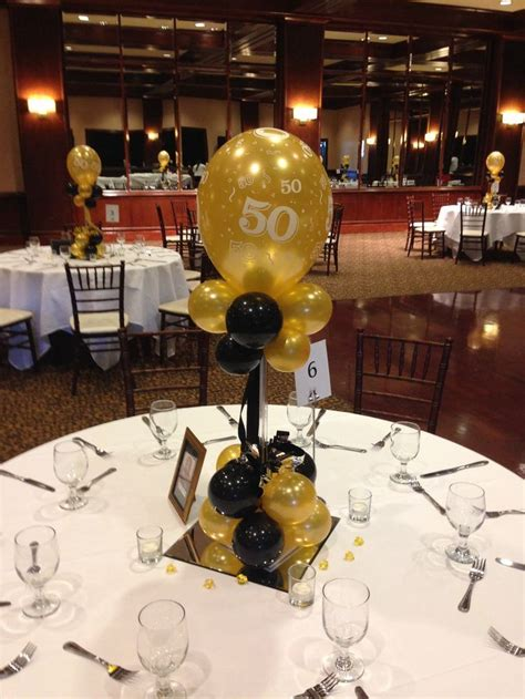 Black And Gold Table Decorations by 25 Best Ideas About 50th Birthday Centerpieces On