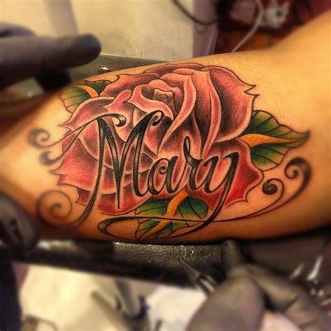 tattoos of names with roses best 25 with name ideas on