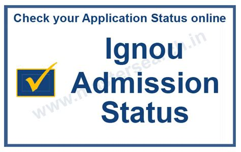 Ut Check Application Status Mba by Ignou Admission Status 2018 Ignou Registration Status