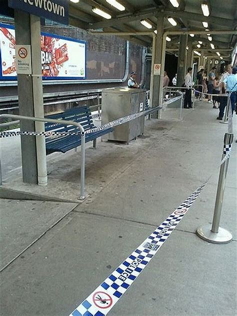 bench newtown the cordoned off bench at newtown station this morning