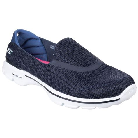 Skechers Go Walk 3 by Skechers Go Walk 3 S Navy White Sports Free