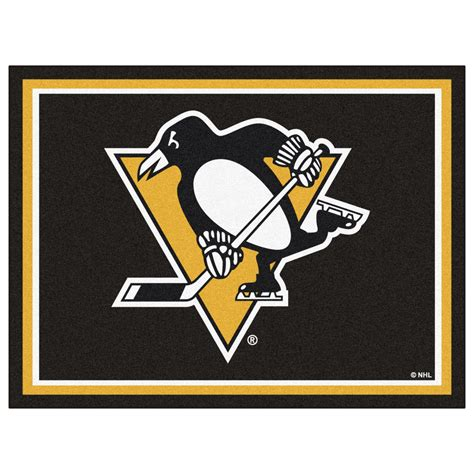 pittsburgh penguins rug pittsburgh penguins 1 4 quot plush area rug 8 x 10