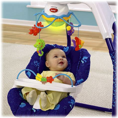fisher price ocean wonders cradle swing object moved