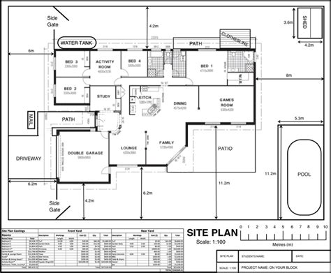 floor plan title block site plan on your block