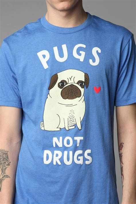 pugs not drugs t shirt 121 best my style images on grey tie menswear and green tie