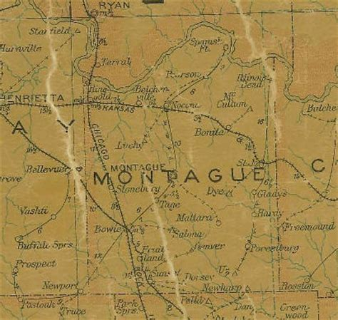 map of montague county texas montague county tx 1907 postal map shake the tree