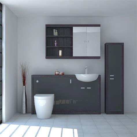 Hacienda 1500 Fitted Furniture Pack Grey Buy Online At Bathroom Fitted Furniture Uk