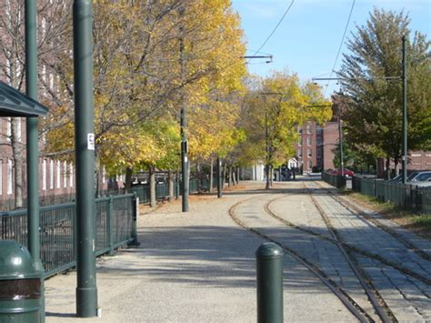 boarding house park lowell ma trolley tracks behind boarding house park photo picture image