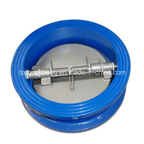 spring loaded swing check valve china double door spring loaded wafer check valve