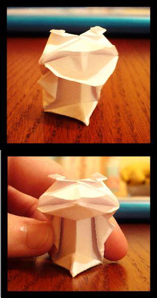 Origami Talking Frog - origami talking frog by katiebann on deviantart