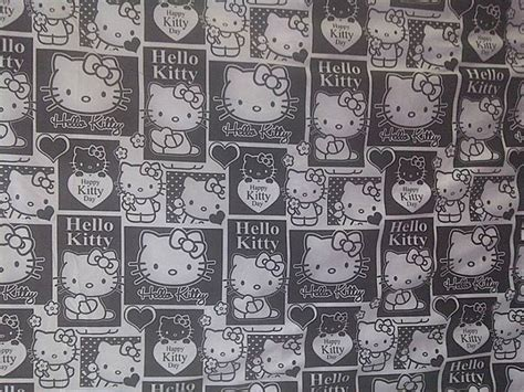 Sprei My Gambar Hello hellokitty hitam putih cliparts co