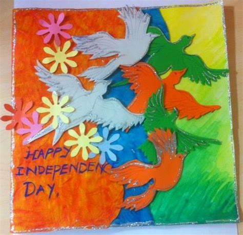 Handmade Independence Day Cards - craft ideas and bulletin boards for elementary