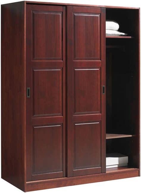 mahogany closet doors wardrobe 3 sliding doors mahogany by palace imports