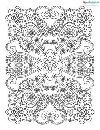 Adult Coloring Pages for Stress Relief   LoveToKnow