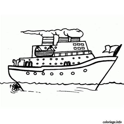 dessin en ligne bateau coloriage bateau de croisiere dessin