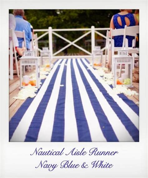 Nautical Wedding Aisle by Navy Blue And White Striped Nautical Aisle Runner