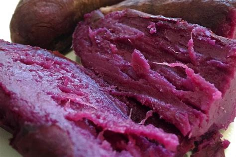 how to cook purple yam in the oven how to cook purple sweet potato recipe nutrition benefits