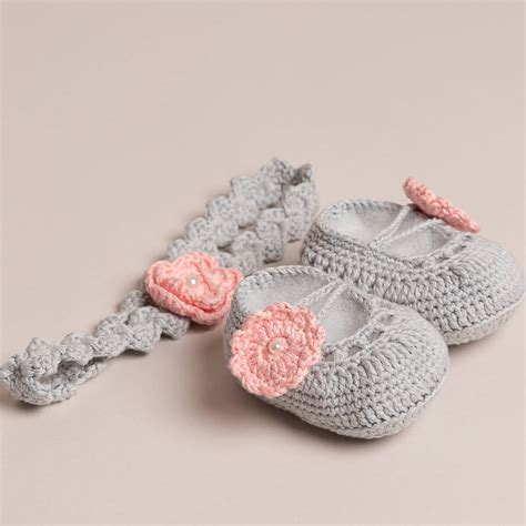 crochet baby shoes crochet baby shoes with headband by attic
