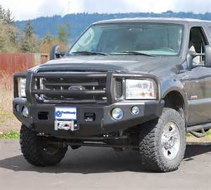 Ford Excursion Bumper Trail Ready 12303g Winch Front Bumper With Guard Ford