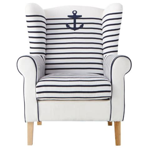 Blue Striped Armchair by Pirate Navy Blue Armchair For Your Blue And White Living