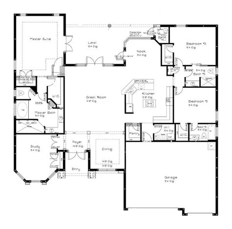 one story open floor plans with 4 bedrooms generous one split bedroom house plans home planning ideas 2017 ranch