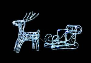 uk gardens led twinkle reindeer and sleigh christmas
