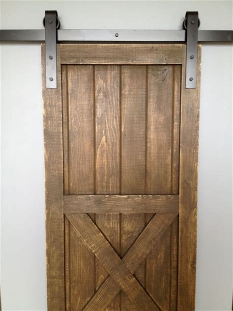 Sliding Interior Barn Doors by Diy Interior Sliding Barn Door On The Cheap