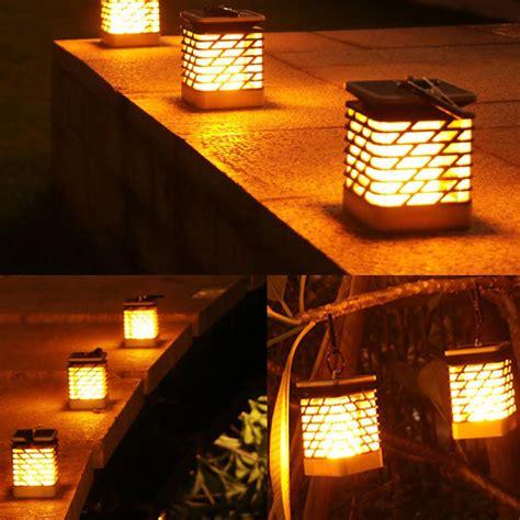 fire dancing solar lantern outdoor hanging garden