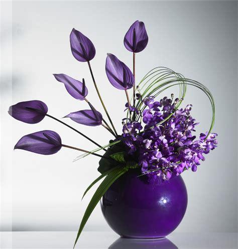 purple anthuriums modern design purple