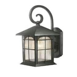 home depot exterior light fixtures hton bay 1 light aged iron outdoor wall lantern y37029
