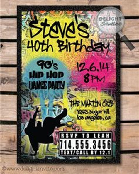 Graffiti Does Invitations by Printable Birthday Invitation Totally 80 S By