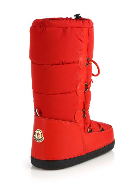 moncler boots lyst moncler quilted lace up moon boots in