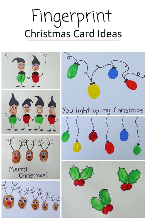 fingerprint christmas cards be a fun mum