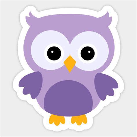 Owl Purple purple owl owl adesivo teepublic it