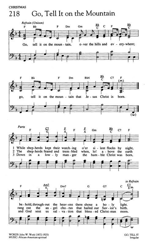 printable lyrics to go tell it on the mountain mondd el a hegyek orm 225 n