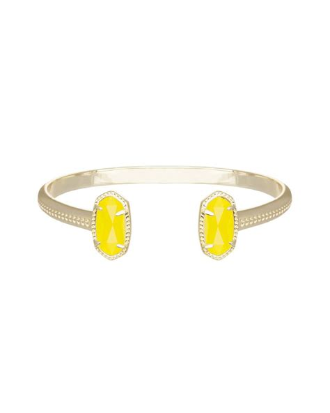 kendra shoo products shop kendra scott elton bracelet in yellow in yellow at