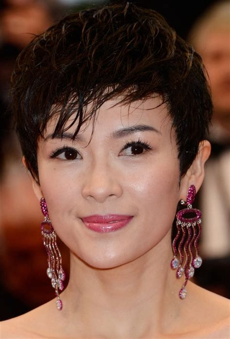 hairstyle for oblong asian face asian pixie cut zhang ziyi short pixie haircut for oval