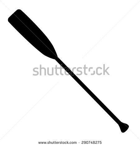 boat ore clipart black silhouette rowing oar vector isolated stock vector