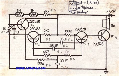 c828 transistor circuit diagram alarm temperature circuit electronic circuit diagram and layout