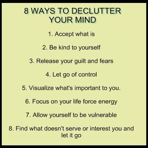 15 Ways To Declutter Your Mind by Quote 28 Journey Into Me