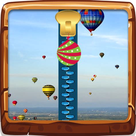 Balloon Pattern Lock Screen | air balloon zipper lock screen