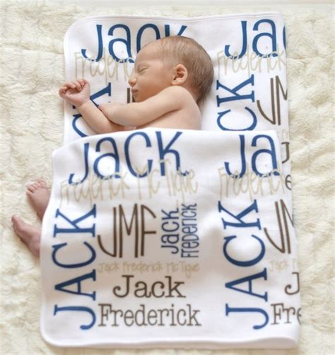 Personalized Baby Shower Gift by Personalized Baby Blanket Monogrammed Baby By